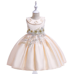 Girl Prom Dress Beaded Embroidered Skirt Sequined Princess Tutu