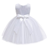 Girls Princess Dress Sequin Bow Dress Flower Girl Wedding Dress Skirt