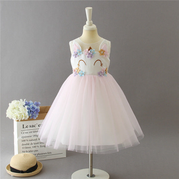 Christmas Mesh Princess Flower Girl Dress