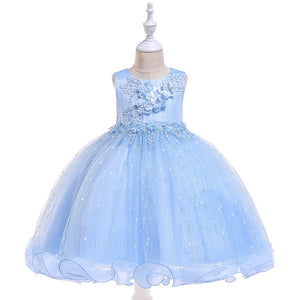 Girl Prom Dress Tutu Princess Dress Flowers Wedding Dress