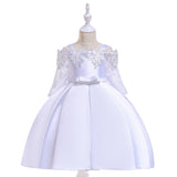 Flower Girl Off Shoulder Lace Princess Dress