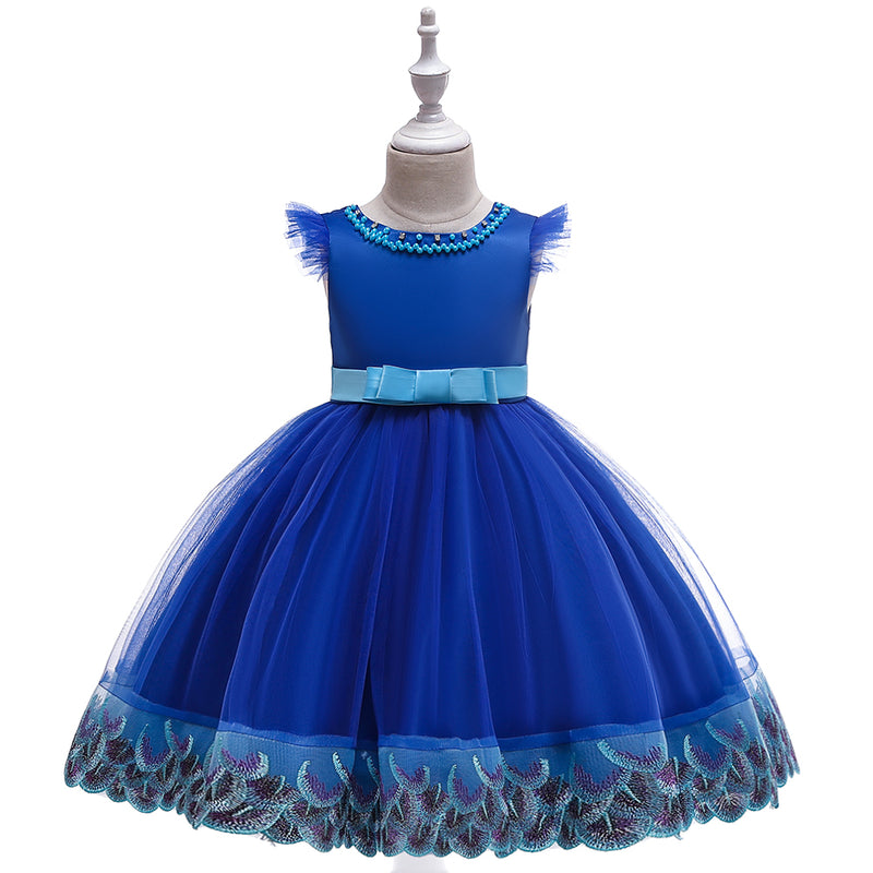 Girl Lace Fly Sleeve Princess Dress