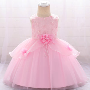 Baby Girl Dress Wedding Dress Flower Embroidery Dress Children's Dress