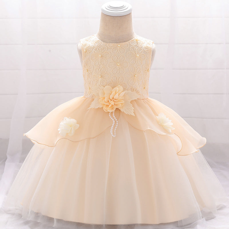 Baby Girl Flower Embroidery Dress