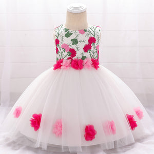 Toddler Girl Dress Floral Embroidery Princess Dress