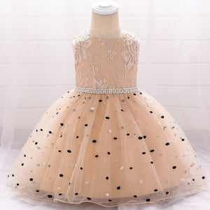 Toddler Girl Dress Polka Dot Princess Dress Tutu Lovely Birthday Dress