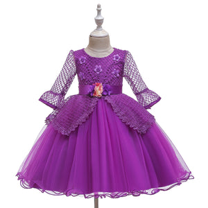 Girls' Dress Princess Dress Lace Half Sleeve Performance Clothes