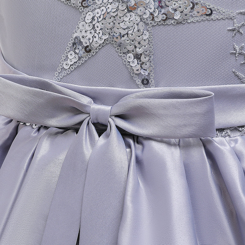 Girls' Prom Dress Mesh Cake Dress Bow Princess Dress Girls' Dress