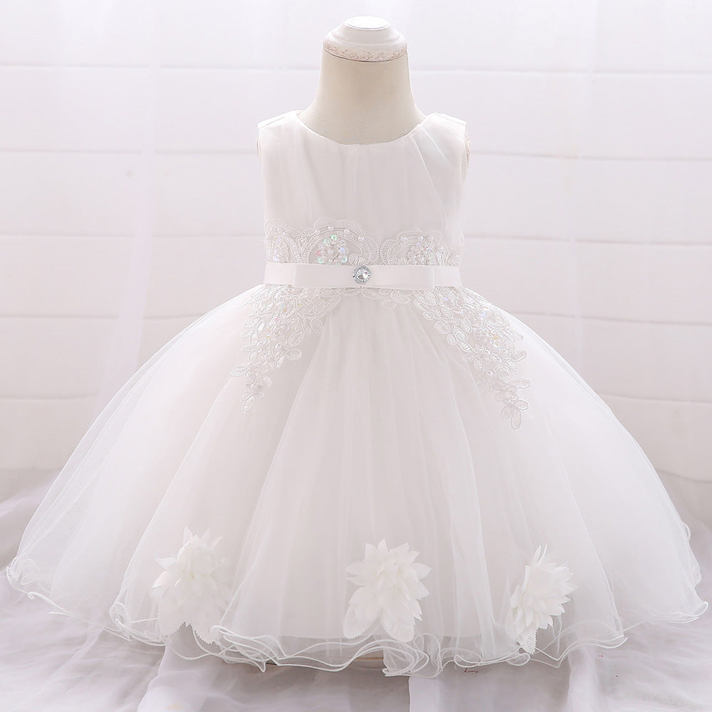 Baby Girl's Solid Color Tutu Princess Dress