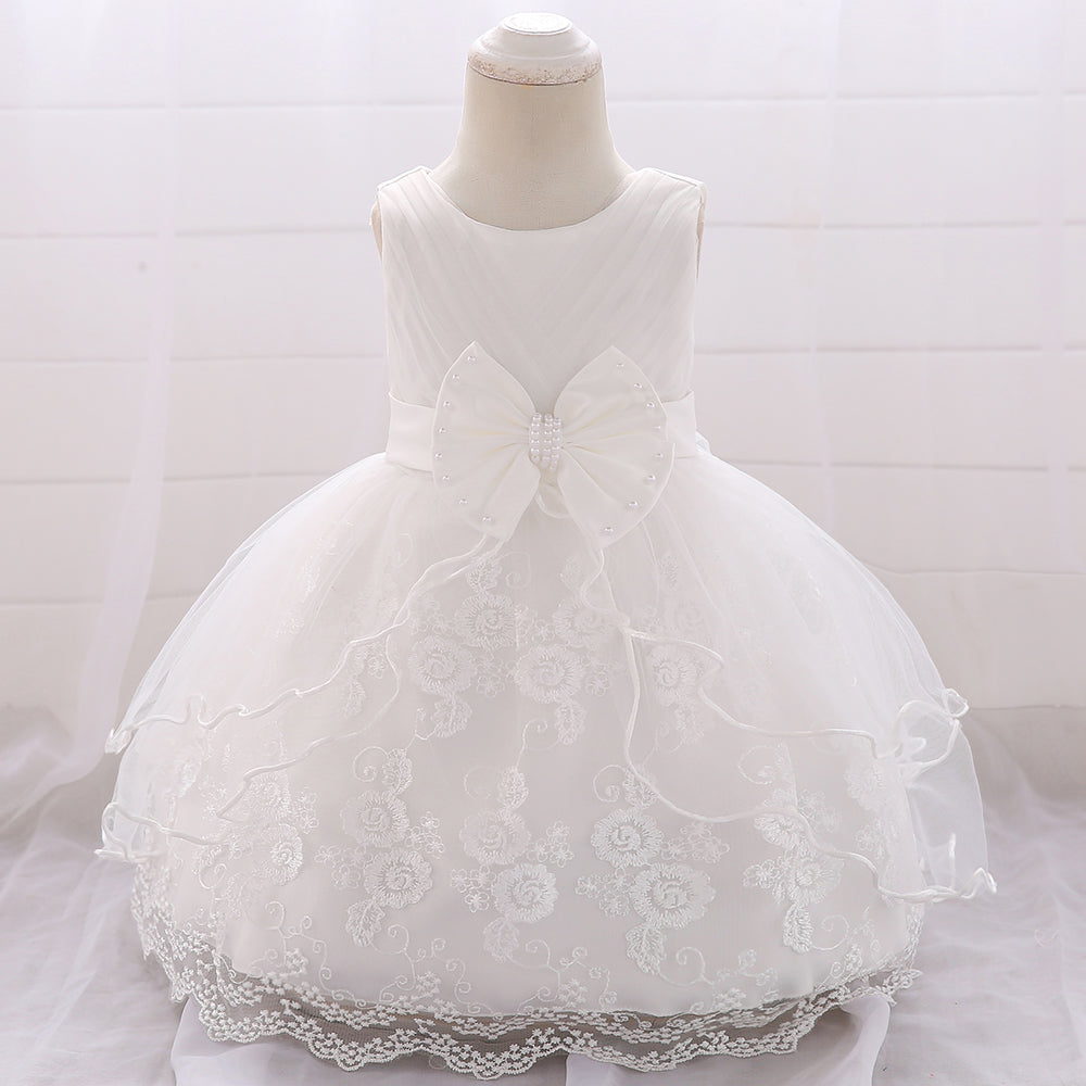 Baby Girl Dress Big Bow Princess Dress Flower Girl Wedding Dress
