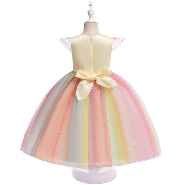 Christmas Girl Unicorn Princess Flower Girl Wedding Dress