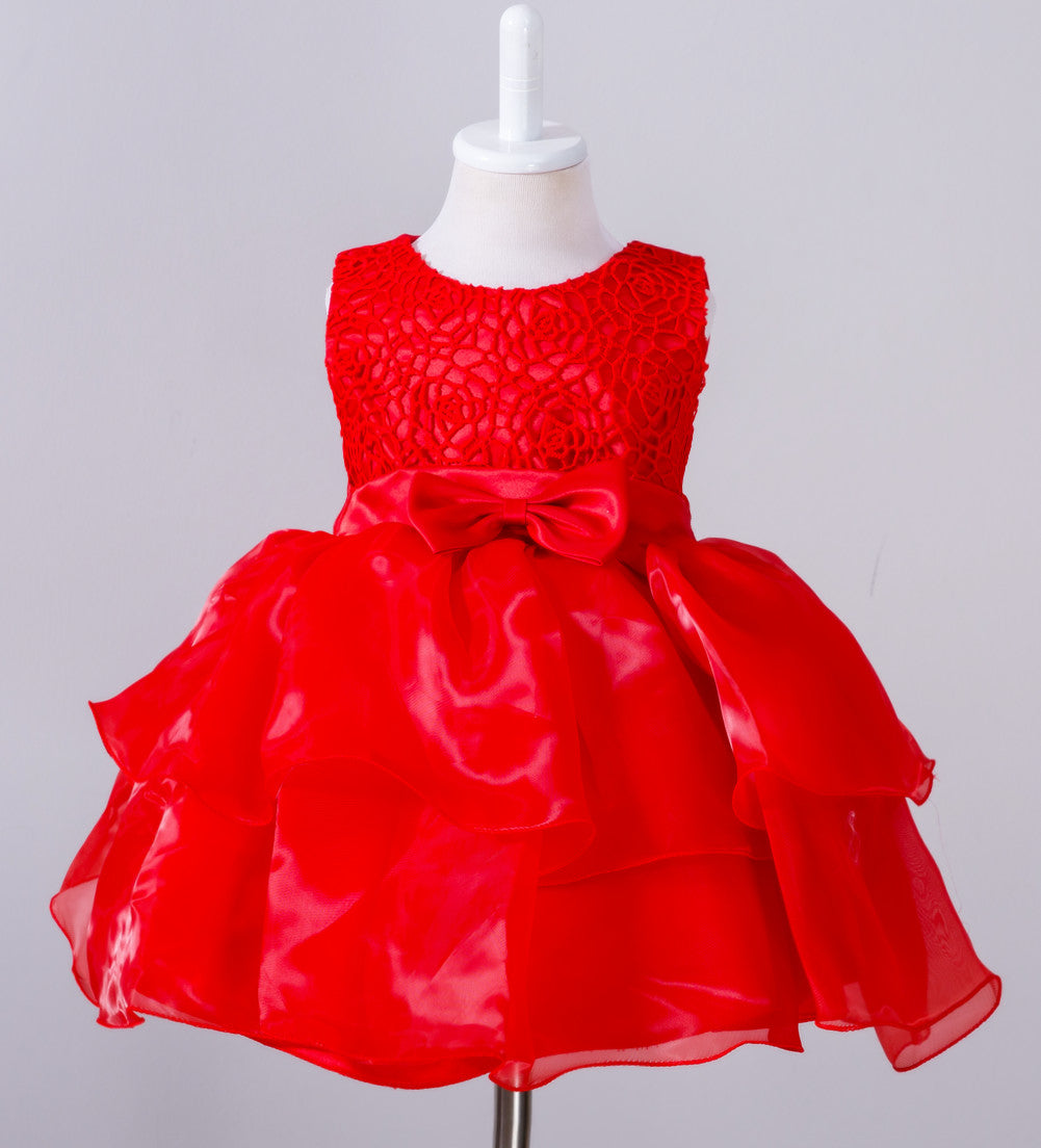 Toddler Girl Princess Dress Lace Cake Skirt