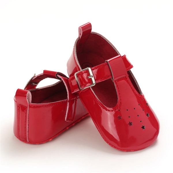 Baby Girls Infant Adjustable Buckle PU Shoes Childrens Wholesale Shoes