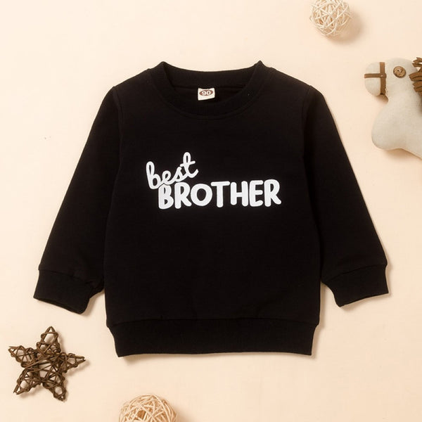 Boys Brother Lettter Printed Top Boys Wholesale Clothing