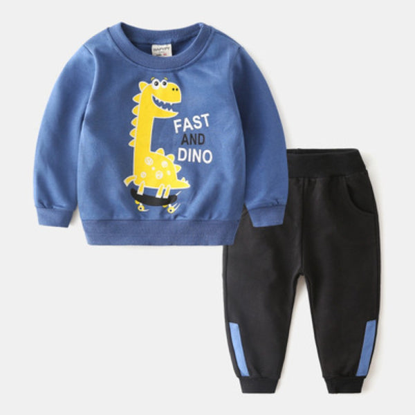 Boys Cartoon Aniaml Dinosaur Pattern Top & Pants Little Boy Boutique Wholesale
