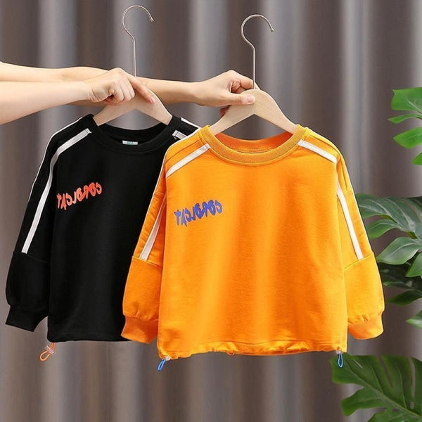 Kid Boys Letter Printed Top Boys Boutique Clothing Wholesale