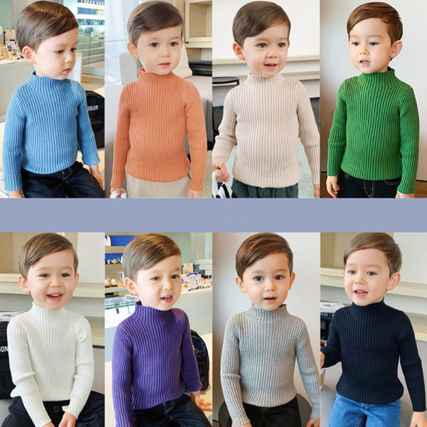 Kid Boys Solid High Neck Shirt Wholesale Toddler Boy Clothes