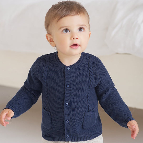 Kid Unisex Solid Cardigan Coat Wholesale Boys Boutique Clothing