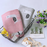 Baby Knitted Alpaca Animal Printed Cotton Baby Blankets Wholesale