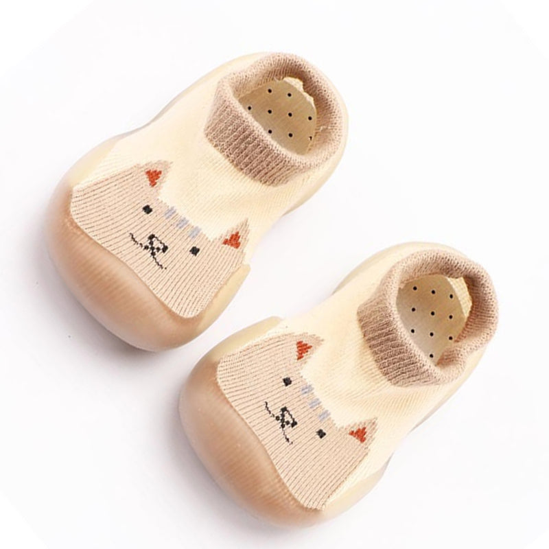 Baby Knitted Comfy Cute Cartoon Animal Printed Flats