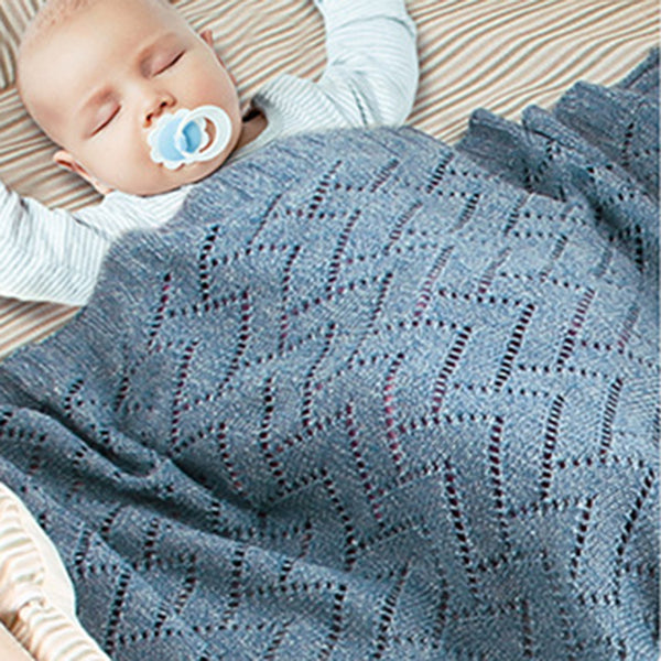 Baby Knitted Hollow-out Solid Color Cute Baby Blankets
