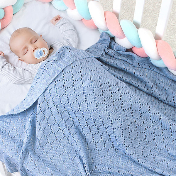 Baby Knitted Hollow Out Casual Baby Blankets Wholesalers