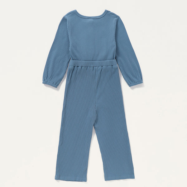 Girls Knitted Long Sleeve Solid Color Jumpsuit Wholesale Girls