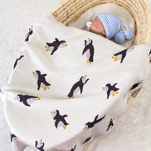 Baby Knitted Penguin Stroller Cover Cute Baby Blankets