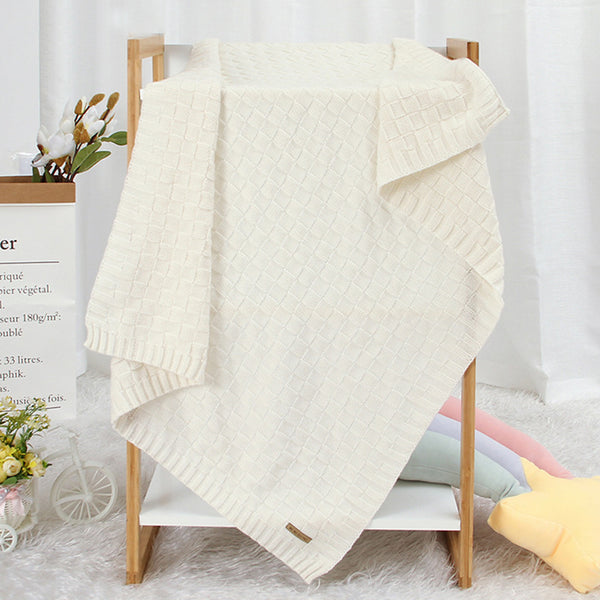 Baby Knitted Solid Color Windproof Blankets Baby Blanket Wholesale