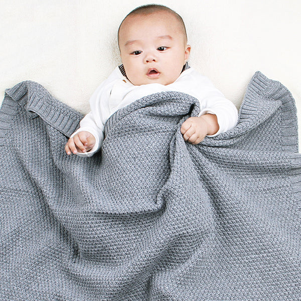 Baby Knitted Solid Windproof Blankets Wholesale Baby Blanket