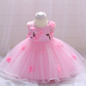 Baby Girl Dress Flower Princess Skirt Mesh Tutu Dress