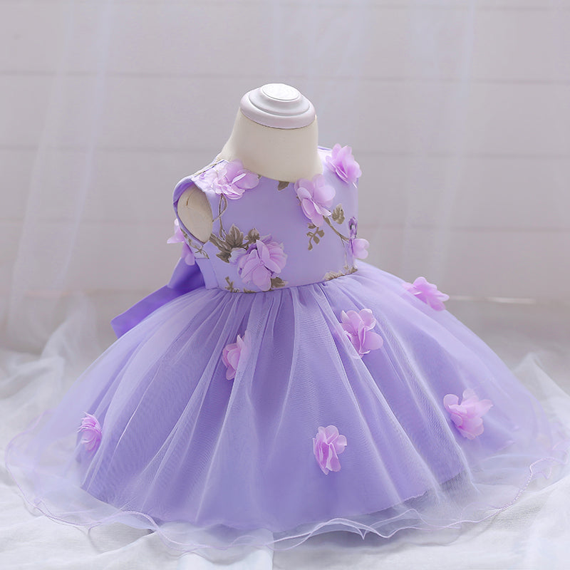 Baby Girl Dress Flower Princess Mesh Tutu Dress