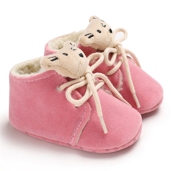 Baby Unisex Lace-Up Cartoon Winter Warm Boots Baby Shoe Wholesale