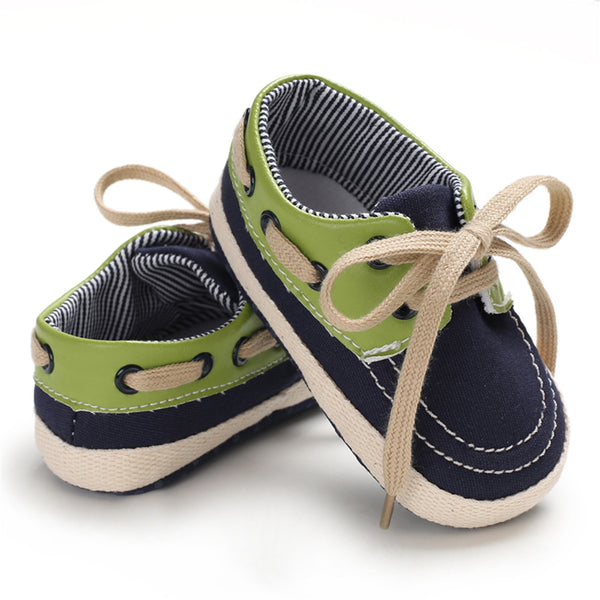 Baby Boys Lace-Up Color Block Shoes Childrens Shoes Wholesale