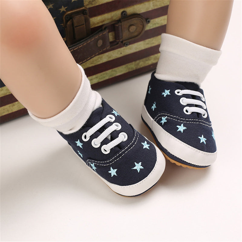 Baby Unisex Lace Up Canvas Casual Shoes Wholesale Toddler Shoes
