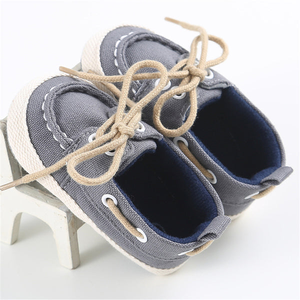 Baby Unisex Lace Up Casual Flats Wholesale Children Shoes