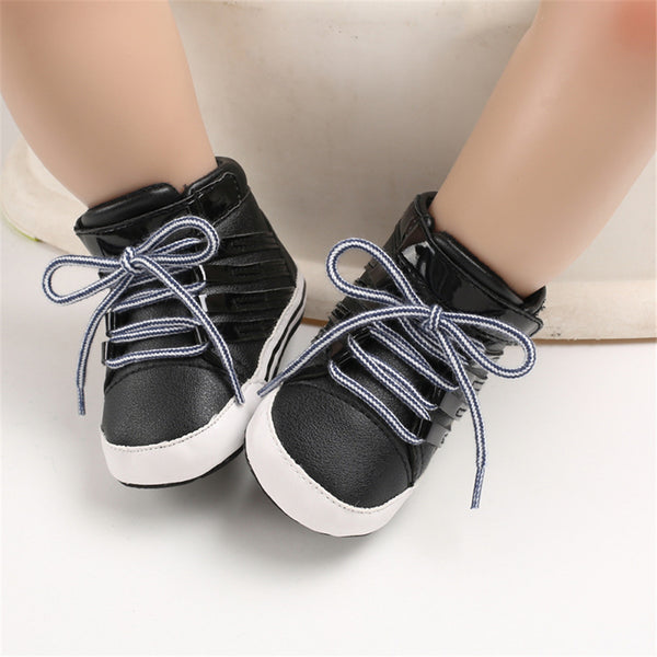 Baby Boys Lace Up Comfy Sneakers Baby Boys Winter Shoes