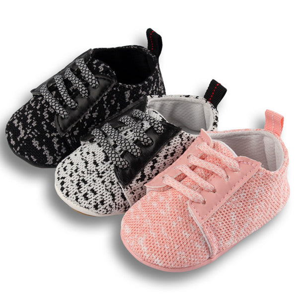 Baby Unisex Lace Up Comfy Toddler Shoes