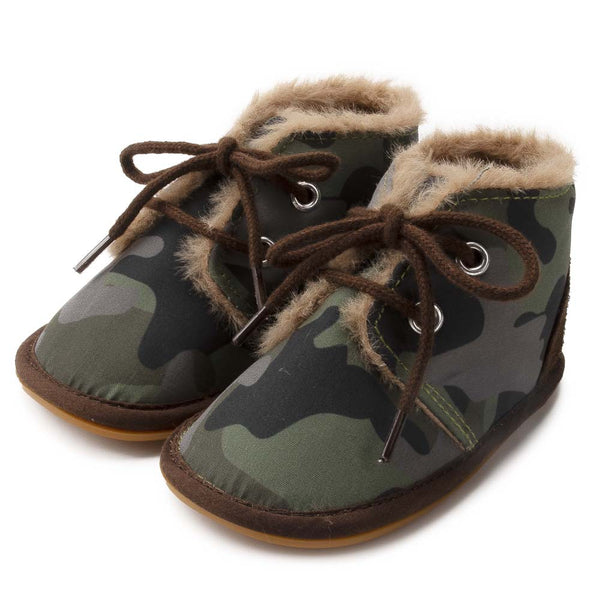 Baby Boys Lace Up Fur Winter Warm Boots Wholesale