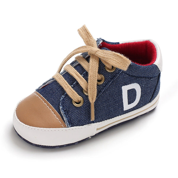 Baby Boys Lace Up Letter Printed Sneakers Wholesale Kid Shoes