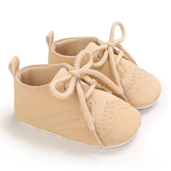 Baby Unisex Lace Up Solid Casual Loafers Wholesale Kid Shoes