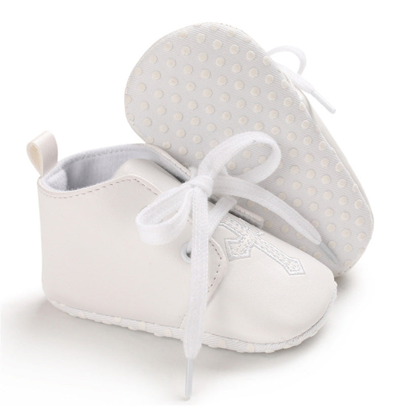 Baby Unisex Lace Up Solid Casual Shoes