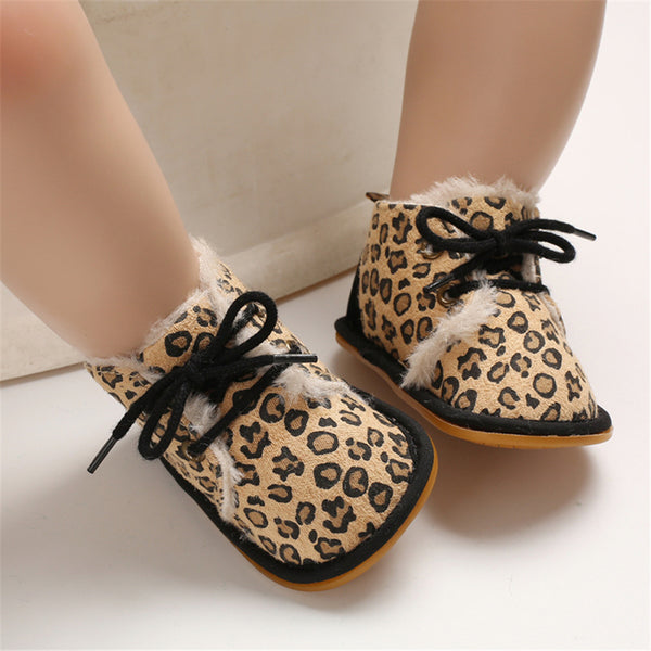Baby Unisex Lace Up Solid Snow Boots Wholesale Toddler Shoes