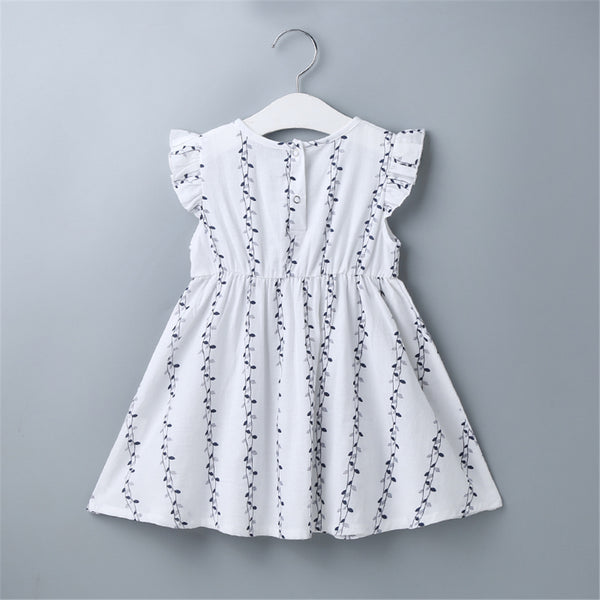 Baby Girls Leaf Printed Leaf Printed Dress baby clothes wholesale distributors