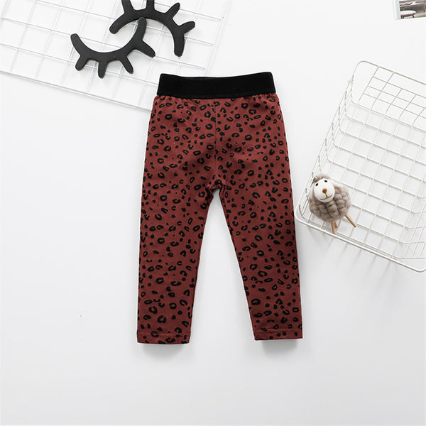 Girls Leopard Printed Fashion Leggings Trendy Kids Wholesale Clothing