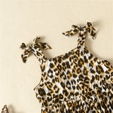 Baby Girls Leopard Printed Splicing Dress Wholesale Baby Dresses