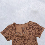 Baby Girls & Boys Leopard Printed Summer Casual Suit Boutique Baby Clothes Wholesale