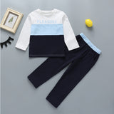 Casual Letter Color Contrast Long Sleeve Tracksuit