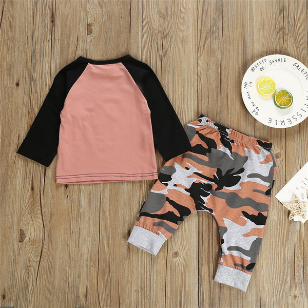 Baby Boys Letter Long Sleeve Top & Camo Pants Buy Baby Clothes Wholesale