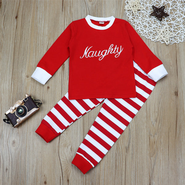 Baby Unisex Letter Long Sleeve Top & Striped Bottoms Baby Outfits